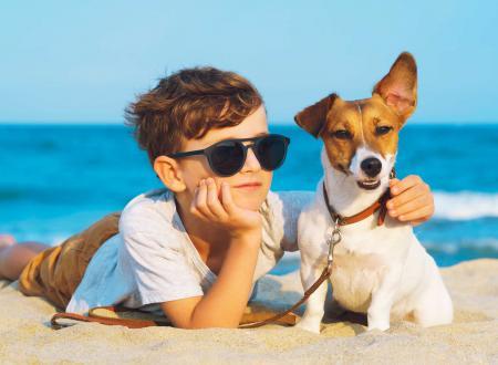 vacanza cane bambino